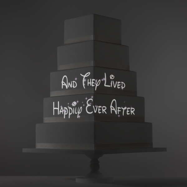 And They Lived Happily video template projection mapped on a cake